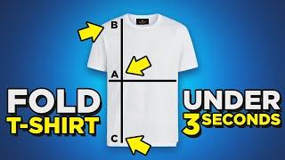 T-Shirt Folding HACKS | Fold Shirt In Under 3 Seconds? | 4 Ways To Fold Tee