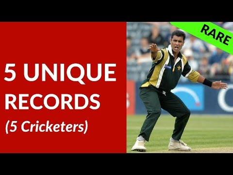 RARE Cricket Records | WAQAR Younis, IRFAN Pathan