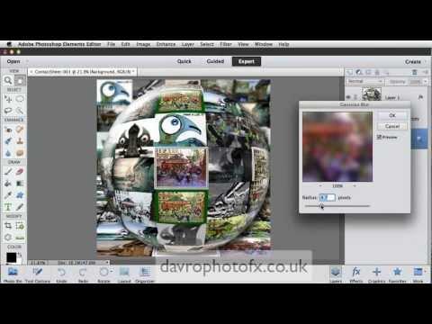 Glass Photo Sphere Photoshop Elements
