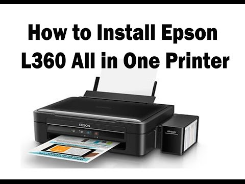 L360 Epson Printer unboxing and Setup Very easy