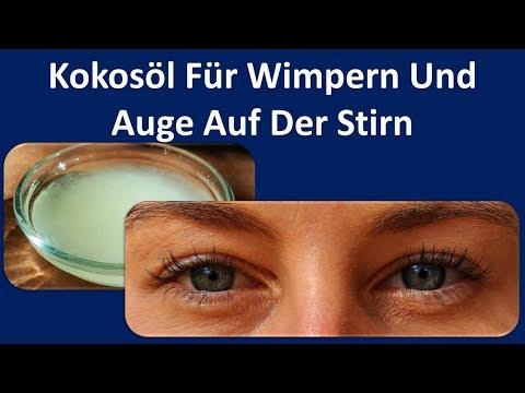 Kokosöl für Wimpern und Augenbrauen