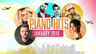 Piano Hits Pop Songs January 2018 : Over 1 hour of Billboard hits - music for classroom ,studying