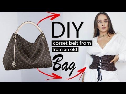 DIY corset belt from an old BAG!    Tijana Arsenijevic