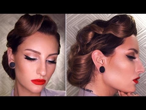 50's INSPIRED VINTAGE UPDO HAIRSTYLE TUTORIAL