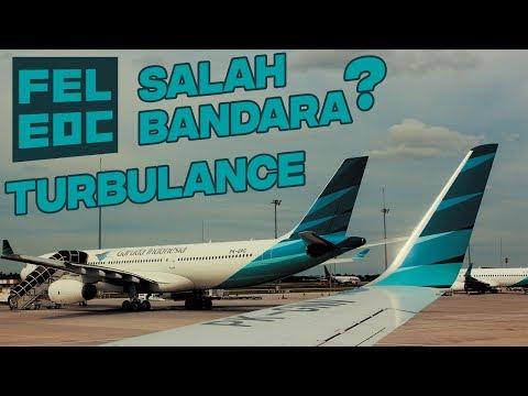 Jakarta-Solo Garuda Indonesia | Salah Announcement - Turbulence