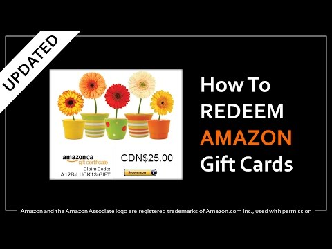 How to Redeem Amazon Gift Cards