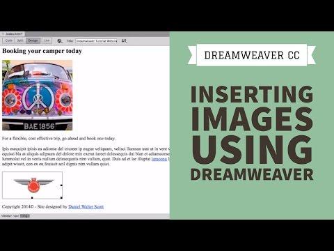 Inserting Images using Dreamweaver CC [7/34]