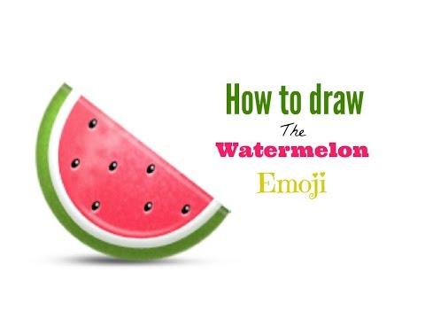 How to draw the watermelon emoji