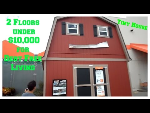 Under $10,000 2 Floor Shed House For Debt Free Living ~No Upgrades