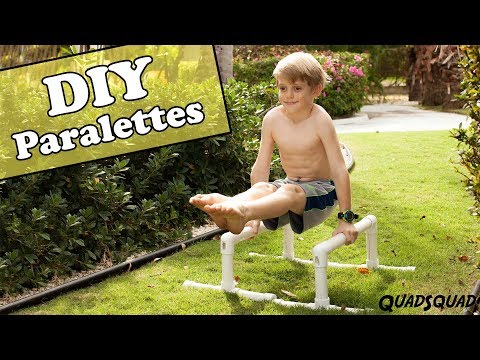 Make Your Own Paralettes for Gymnastics and Calisthenics - DIY with Justin