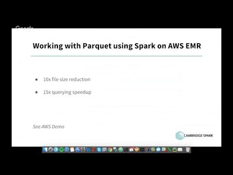 Cambridge Spark Free Webinar - Making Sense of Big Data File Formats