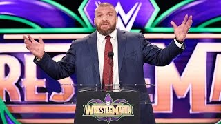 Triple H impersonates The Rock as he looks ahead to WrestleMania
