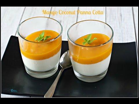 Mango Coconut Panna Cotta