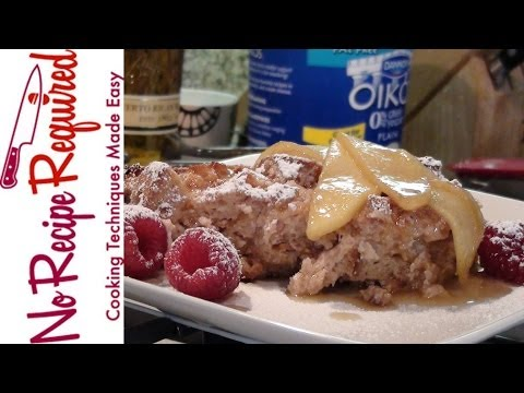 Bread Pudding with Rum Sauce - NoRecipeRequired.com