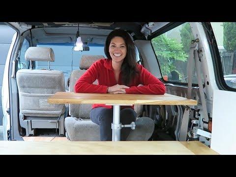 Sleeping in the van! // CAMPER VAN CONVERSION Ep. 9