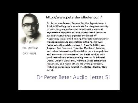 Dr. Peter Beter Audio Letter 51: Dollar; Russian Program; Synthetic Automatons - October 27, 1979