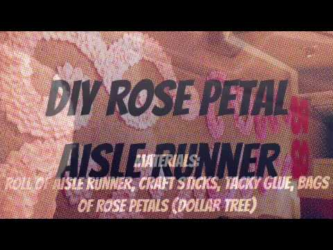 DIY Rose Petal Aisle Runner