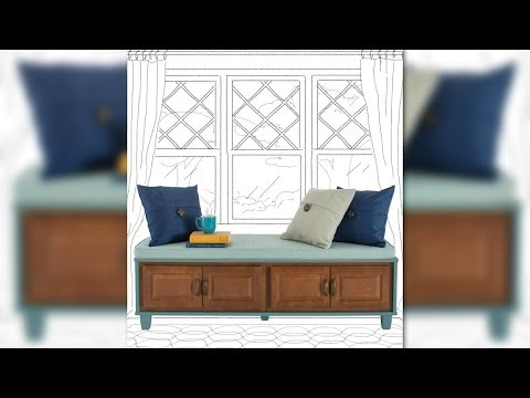 How to Build a Bench Seat with Storage from Lowe's