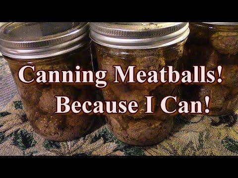 Canning Meatballs