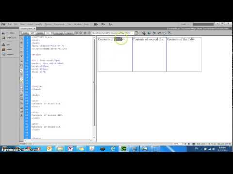 HTML5 CSS3 tutorial - floating elements