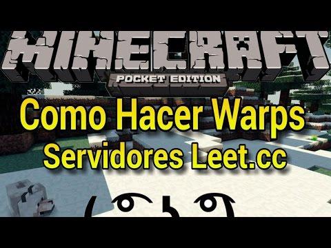 Como Hacer Warps En Leet.cc | Minecraft PE