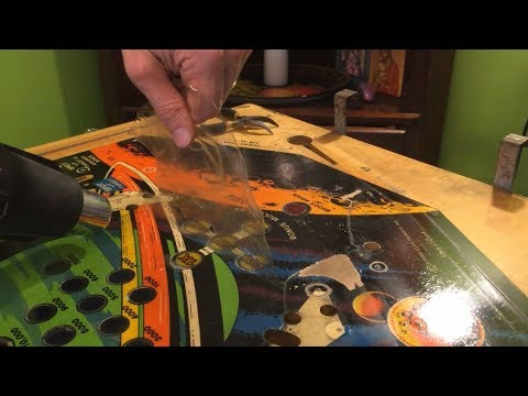 Flight 2000 Pinball Project (Part 5) - Mylar & Glue Removal From Playfield