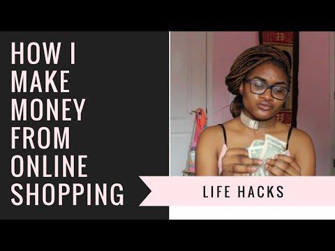 How I make money from online shopping