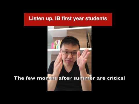 Listen up, all IB first years