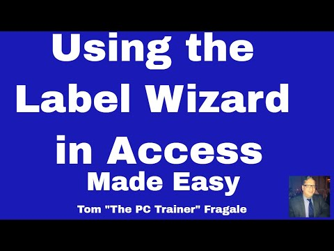 access label wizard - How to use the label wizard in Access 2016 , 2013, 2010