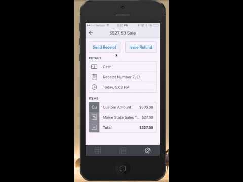 How to issue a refund using Square Register on a smartphone
