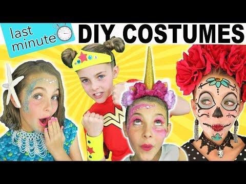 Last Minute DIY Halloween Costumes | Mermaid Unicorn Wonder Woman | Kids Cooking and Crafts