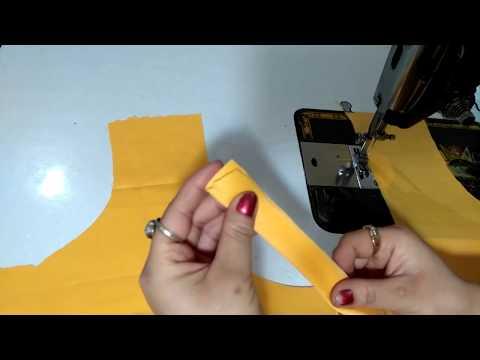 बिना बुकरम के गला कैसे बनाये - How to make kurti neck without bukram / fusion paper