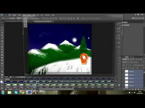 Solid background for an animation (GIF) - Photoshop CS6 Tutorial