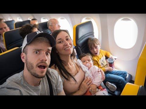 VIAGEM DE AVIÃO EM FAMILIA PARA BARCELONA!! Daily Vlog Brancoala