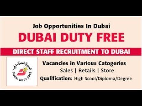 Job in Dubai - Sales, Retail & Store Job in Dubai Duty Free - Airport Job / Dubai Latest Job 2018