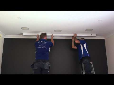 The easiest projector screen to install