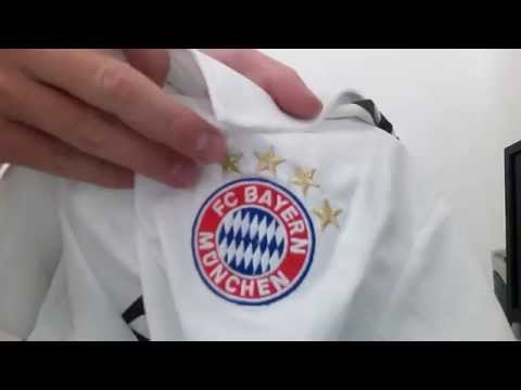 Bayern Munich 2014 Adidas White T-shirt Unboxing   Review   Full HD  39284f45901f0