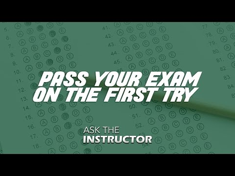 Pass Your Real Estate Exam on the First Try - Ask the Instructor