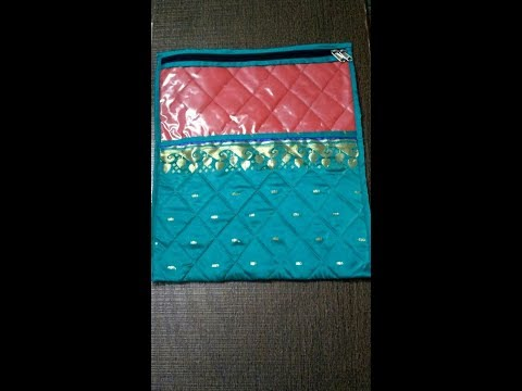 Single Saree Cover   How to Sew
