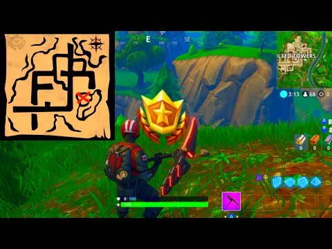''Follow the treasure map found in Pleasant Park'' LOCATION! [Fortnite: Week 7 Challenges]
