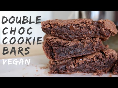 Double Chocolate Cookie Bars (VEGAN)