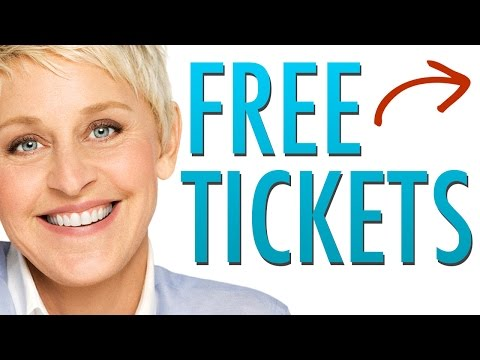 How to Get  Ellen Show Tickets |  Free Ellen Show Tickets 2017 - Ellen Giveaway