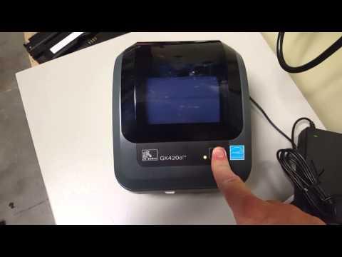 Resetting the Network Configuration on a Zebra GK420d Printer