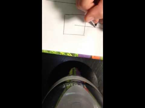 How to make a 3d square on paper