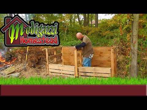 DIY Compost Bins made from Free Repurposed  Wood Pallets.
