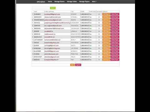 Online Poker Script - Admin Panel Demo