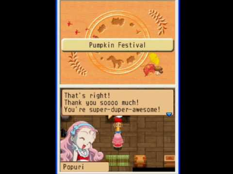 Harvest Moon: Island of Happiness - Pumpkin Festival in Year 3