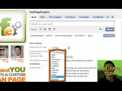Fan page tip #6 - How to change the default landing tab