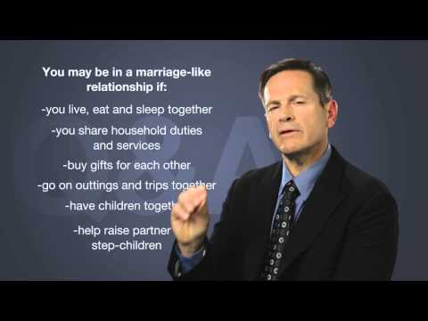 Am I in a marriage-like relationship? - Common Law Relationships