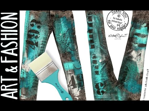 ART to GO, how to pimp your pants with acrylic colors - Fashion Jeansdesign ;) by zAcheR-fineT